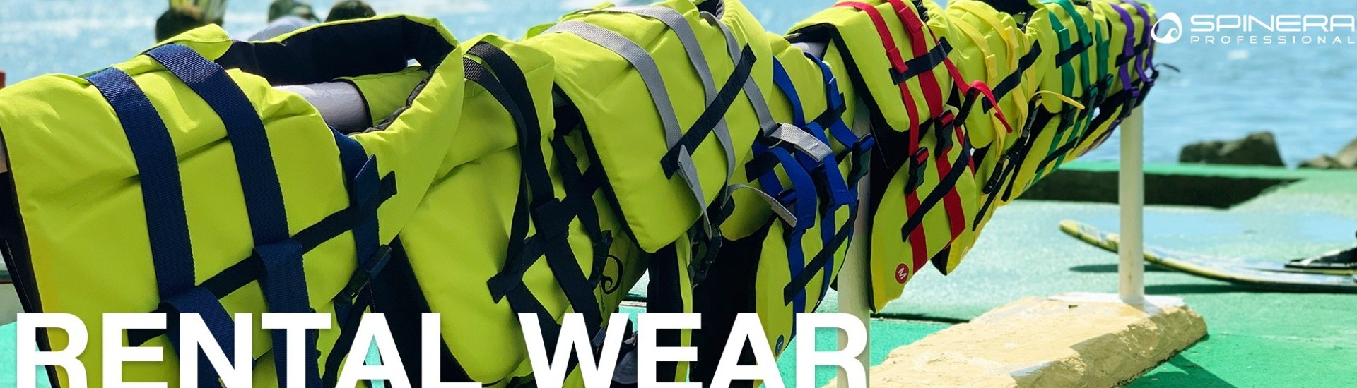 renting vests in different colours