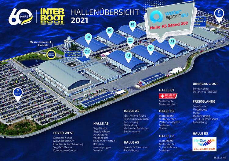 Hallenplan Interboot 2021 Watersport.eu